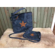 Väska set med stjärna blå